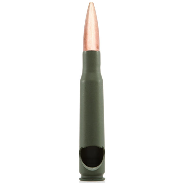 50 Caliber Bullet Bottle Opener in Olive Drab