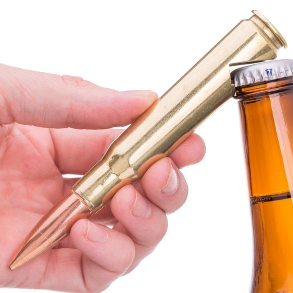 50 Caliber Bottle Opener in Brass