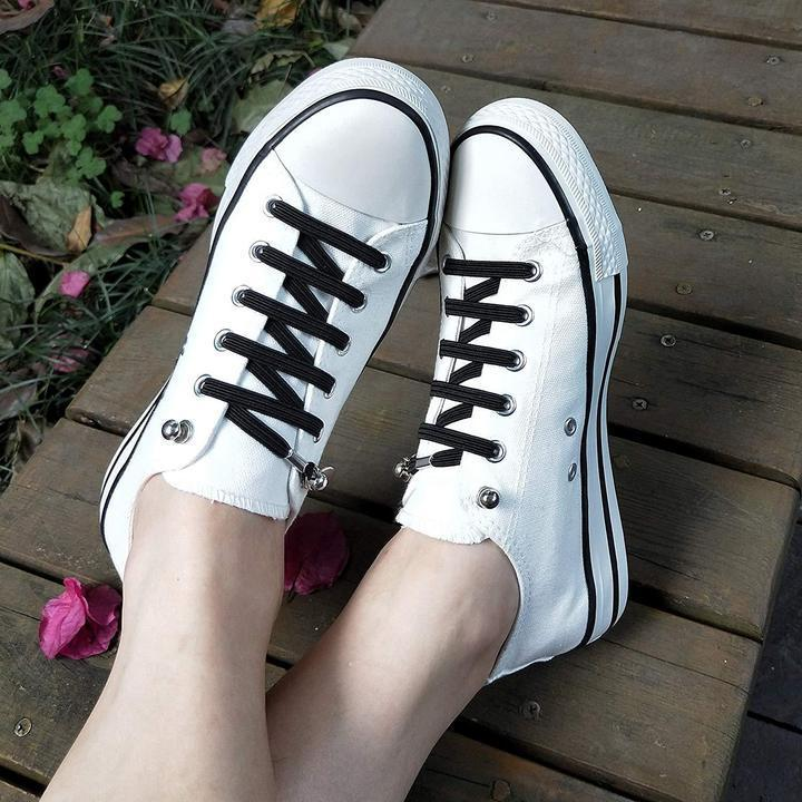 503c72fe700e Elastic One Hand No-tie Shoelaces. Hover to zoom