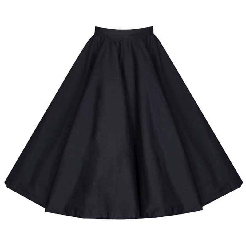 Base Plain Black Skirt
