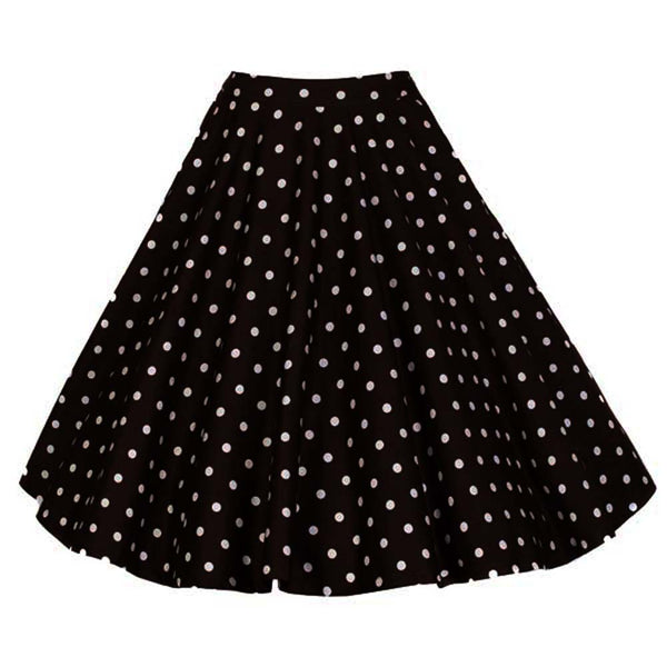 Black White Polka Dots Skirt