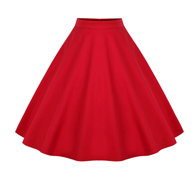 Base Plain Red Skirt