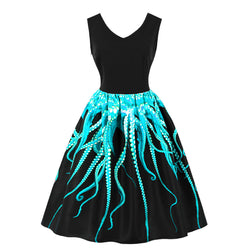 Greenbase Octopus arms print Dress