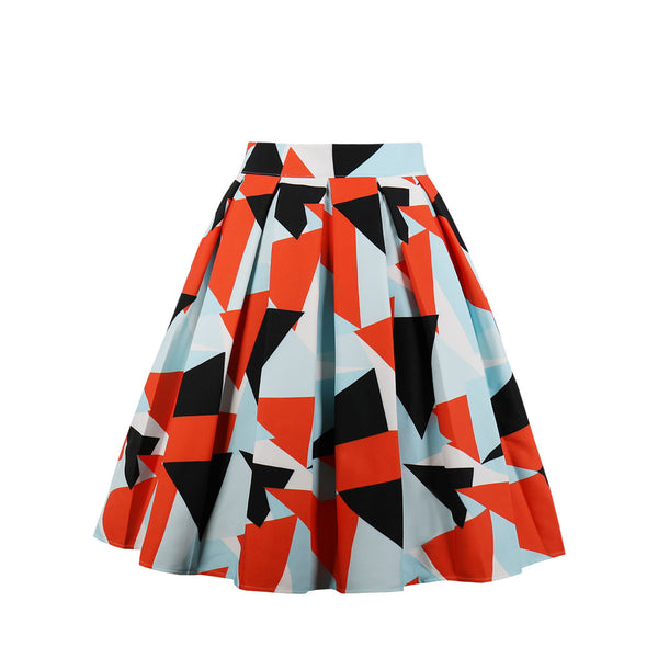 Patterns & Shapes Orange Skirt