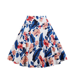 Base White Multi Floral Print Skirt