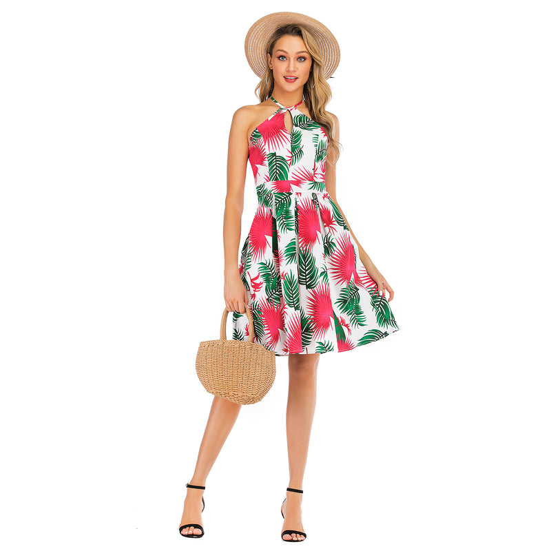 Leaves & hearts patterns Multi Dress