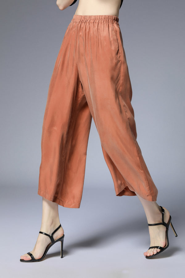 Relax Brown Quarter Pants