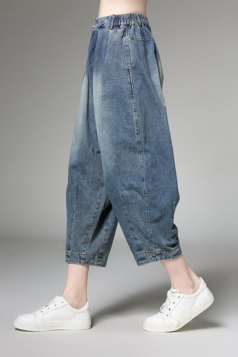 Misty Play Blue Jeans Quarter Pants