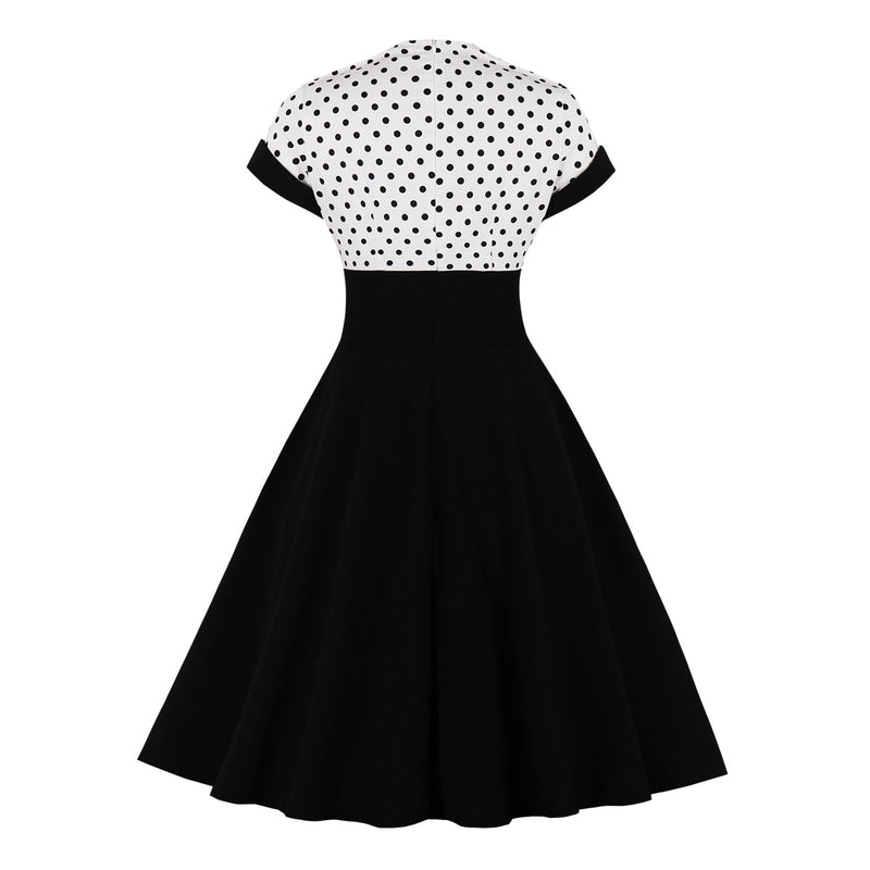 Polka Dots Black  Dress