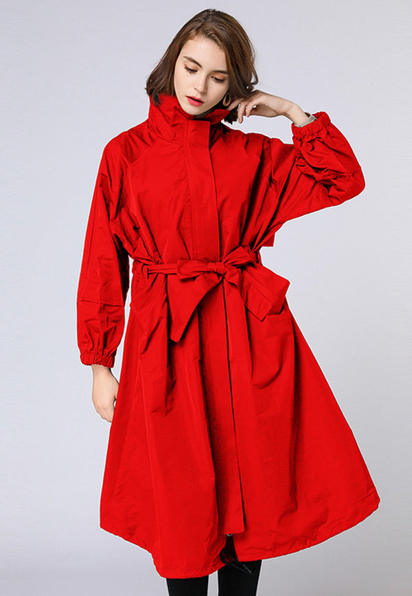 Sporty Red Cover Coat
