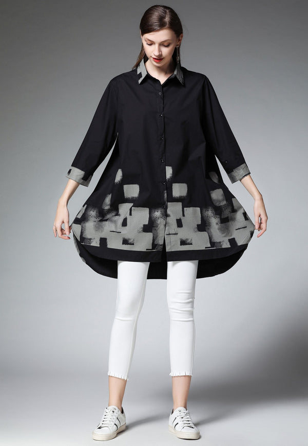 Lower Pattern Design Shirt
