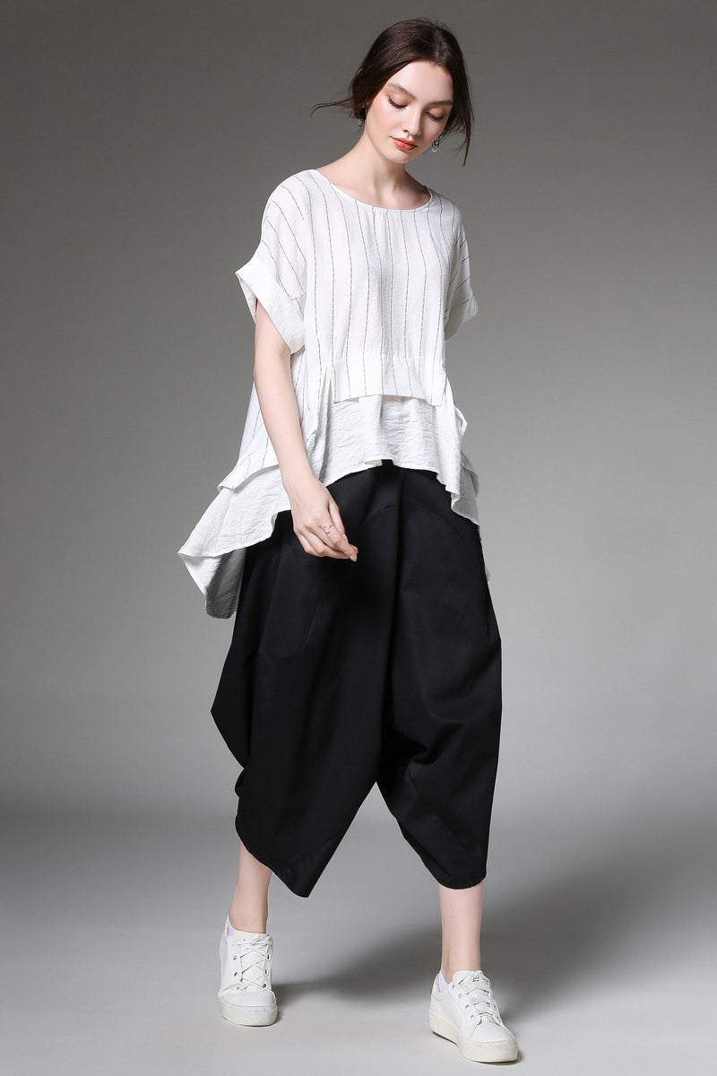 Misty Play Black Quarter Pants