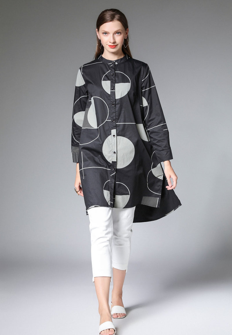 Circles Pattern Design Dress Shirt