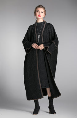 One Size Cover Black Coat