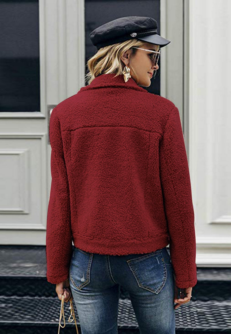 Camel Vinous Red Jacket