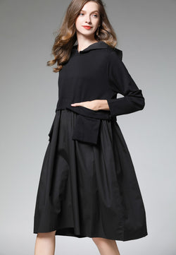Hoodie & Front Pockets Oversize Dress