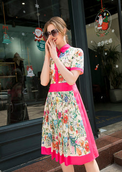 Chill Pink Floral Print Dress
