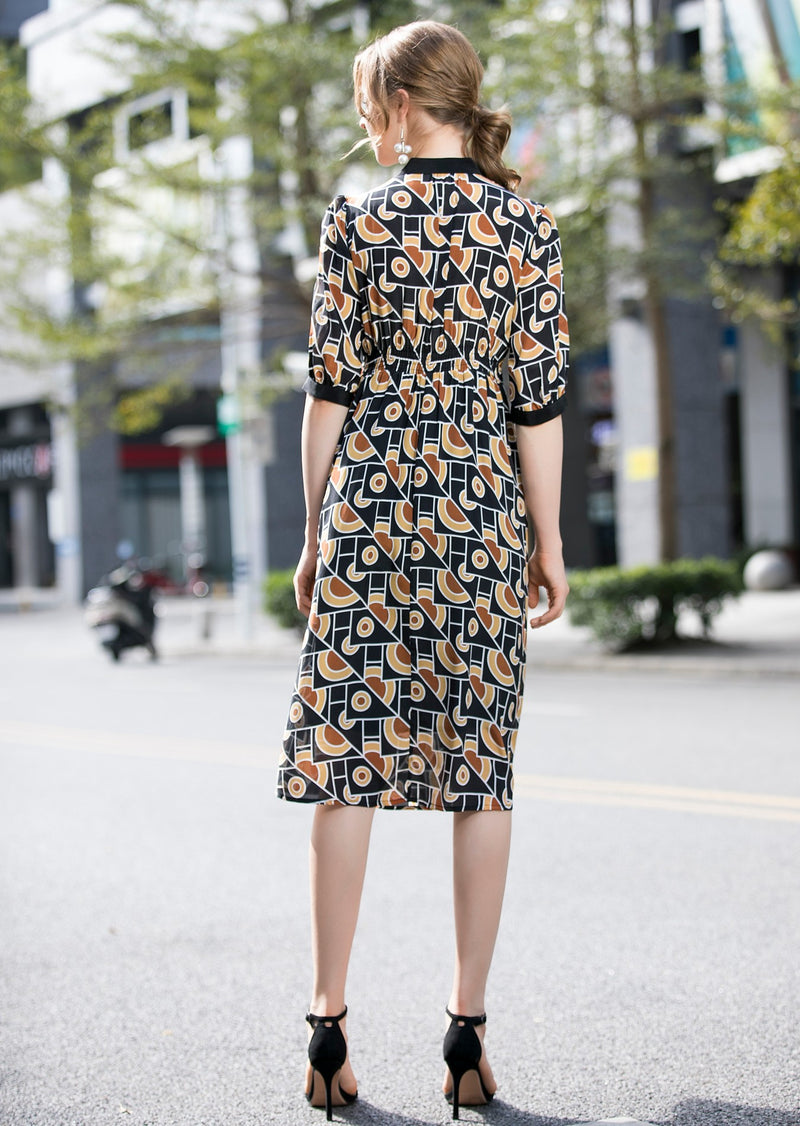 Multicolor Patterns Print Dress