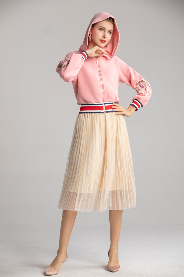 Multi Pink & Beige Suit Bundle (Jumper & Skirt)