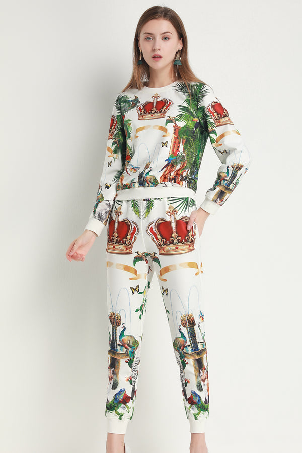 Multicolor Floral Print Suit Bundle (Top & Pants)