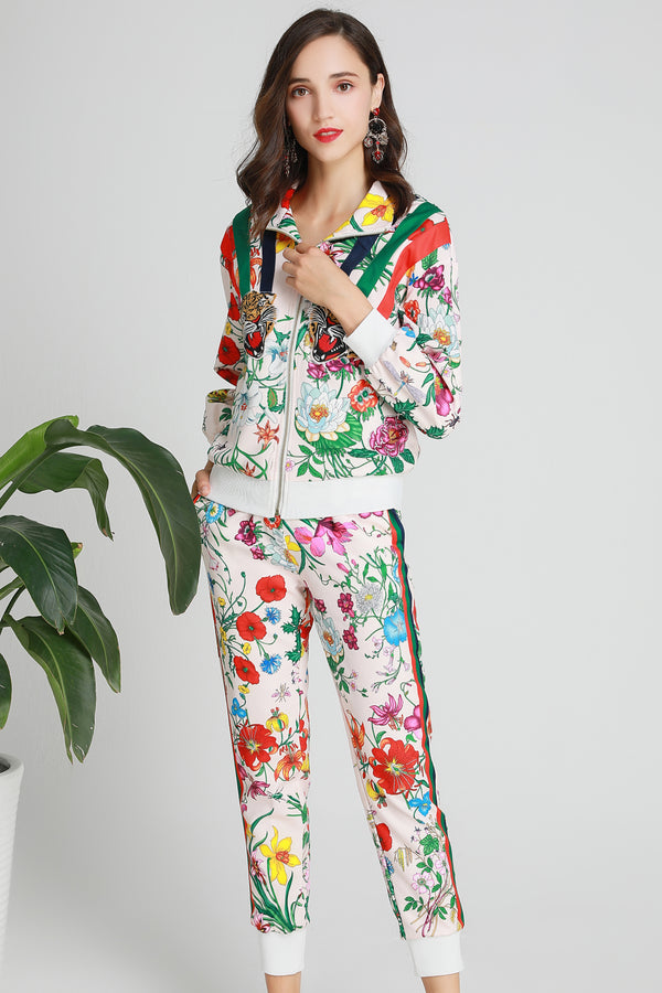 Multicolor Floral Suit Bundle (Jacket & Pants)