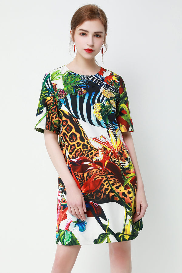 Animals jungle Multicolor Dress