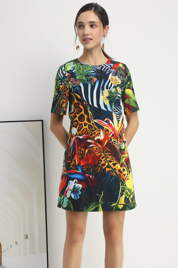 Animals Multi print Dress