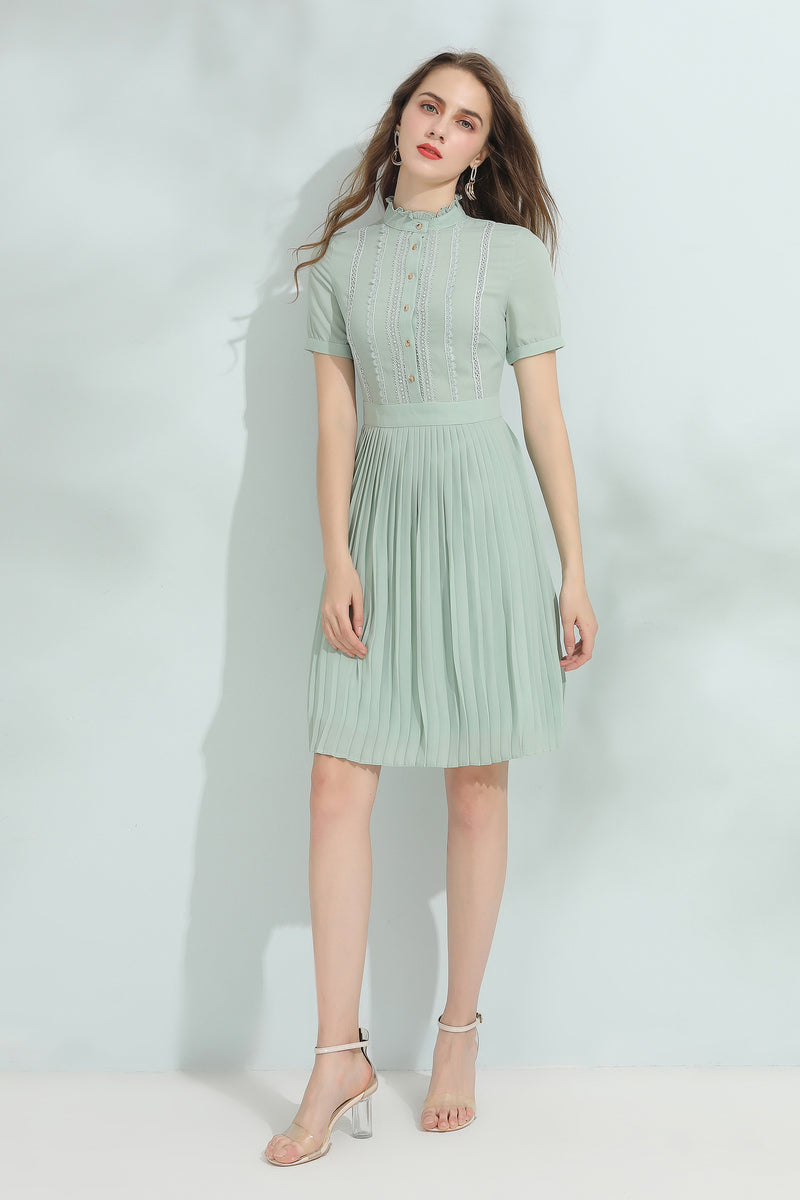 Light Green Free Flow Dress