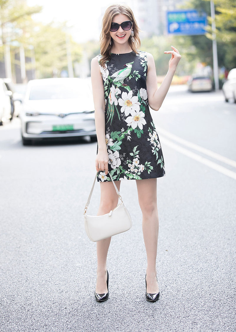 Multicolor Floral Print Dress