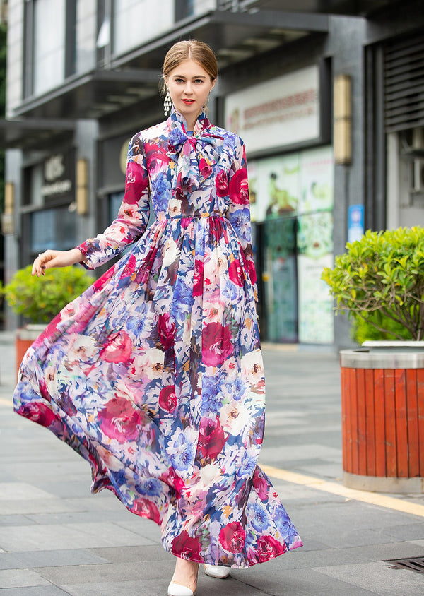 Base Multi Floral Print Dress