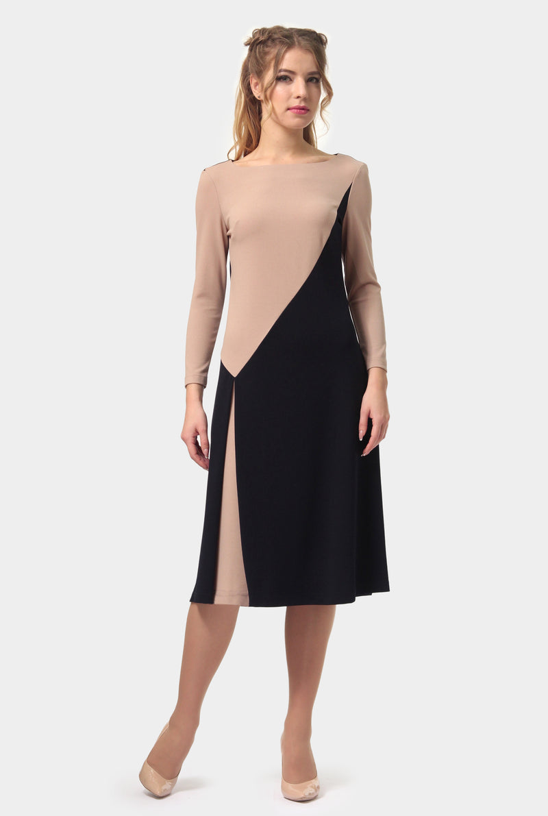 Cross Mixcolor Black Back Dress