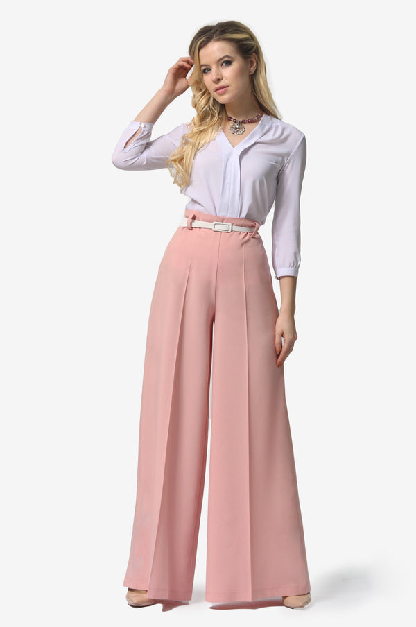 Tap Down Rose Pink Trousers
