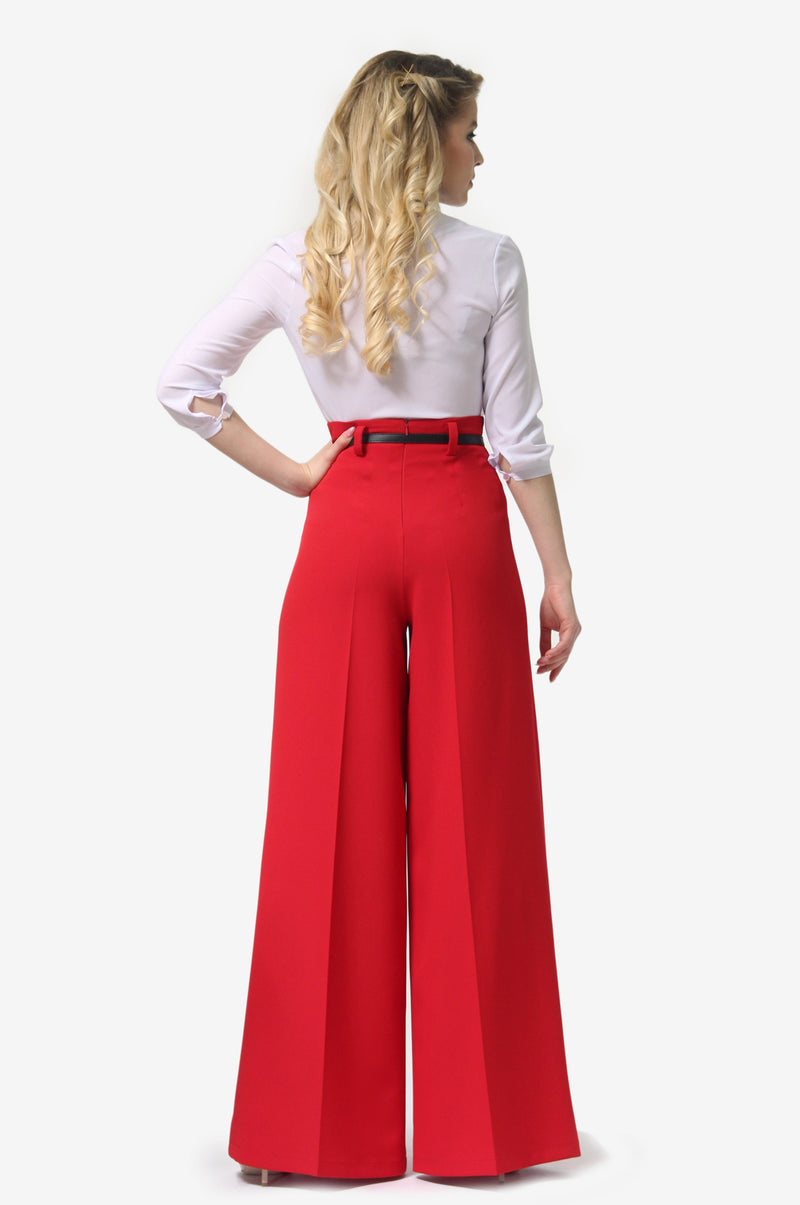 Tap Down Red Trousers