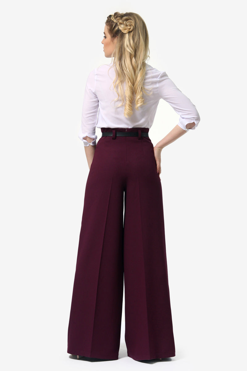 Tap Down Purple Trousers