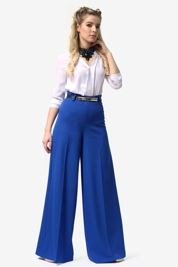 Tap Down Blue Trousers