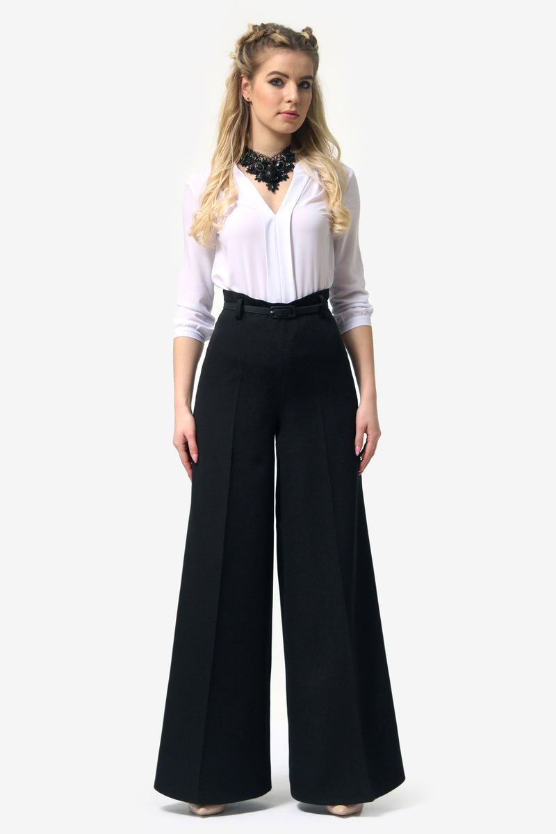 Tap Down Black Trousers