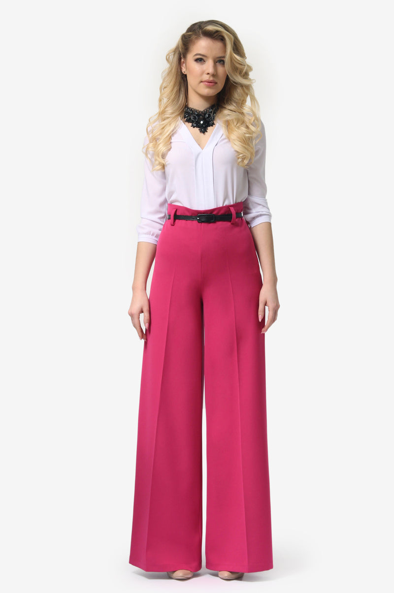 Tap Down Pink Trousers