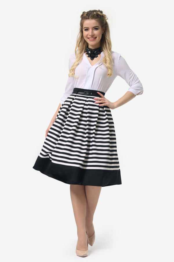 Multicolor Striped Skirt