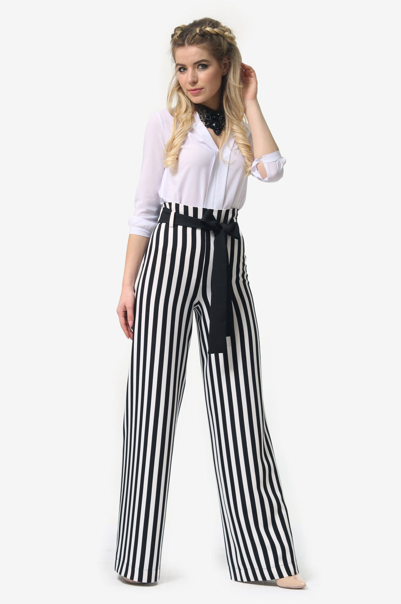 Tap Down Line Multicolor Trousers