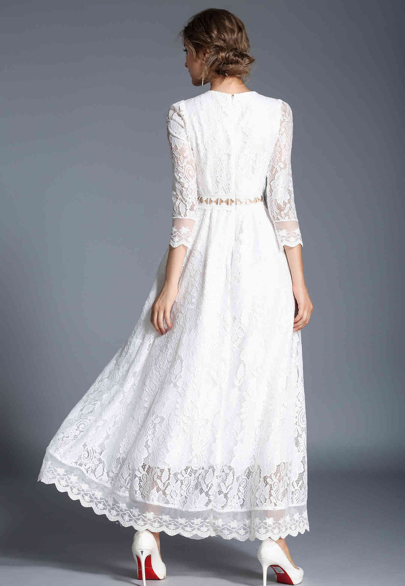 Waist string tie lace Dress