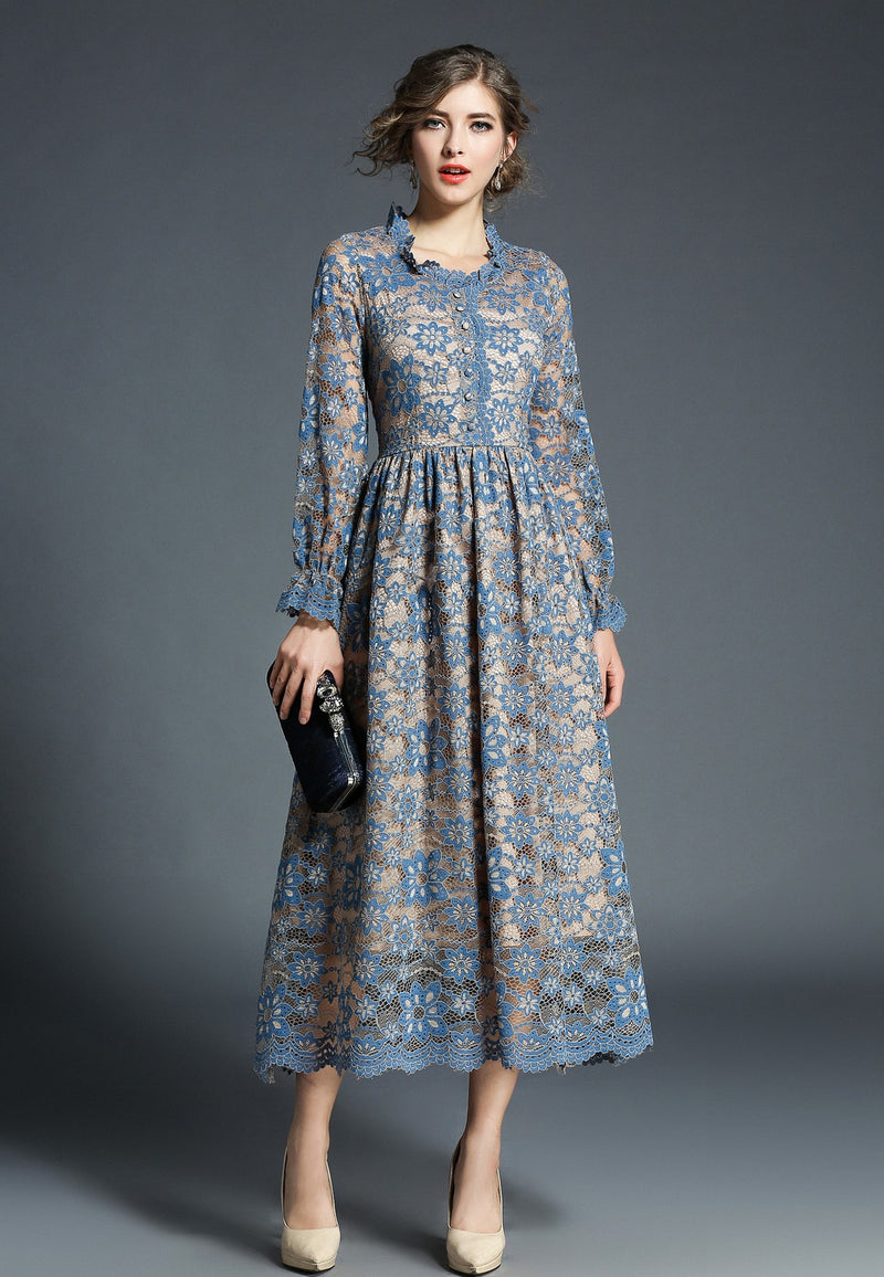 Over Patterns & Apricot Pleated Dress
