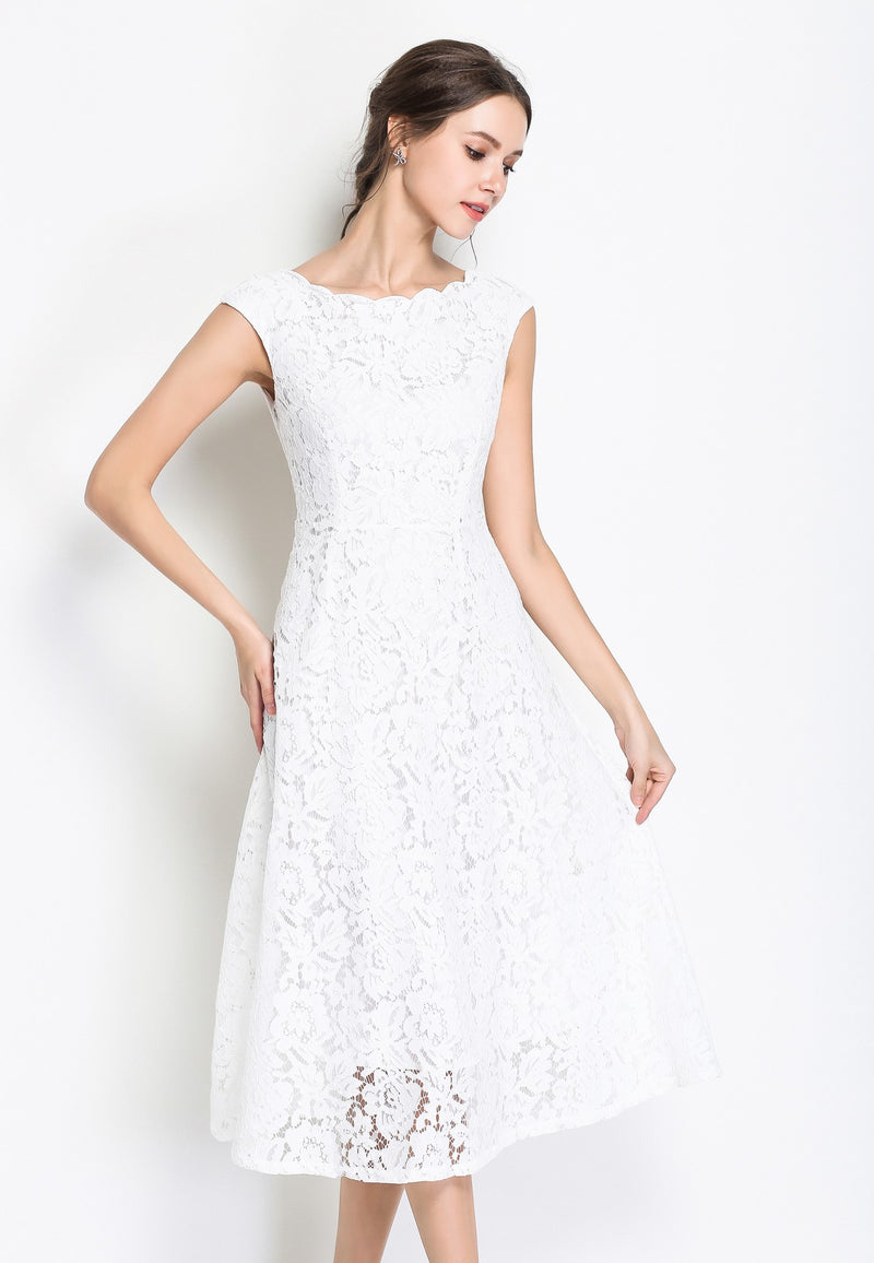 Cocktail Party dress in white