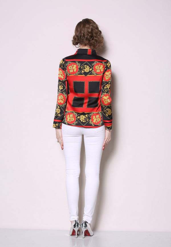 Red Multi Patterns Shirt