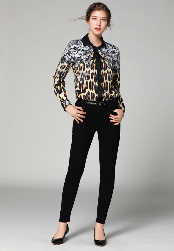 Multicolor Animal Print Patterns Shirt