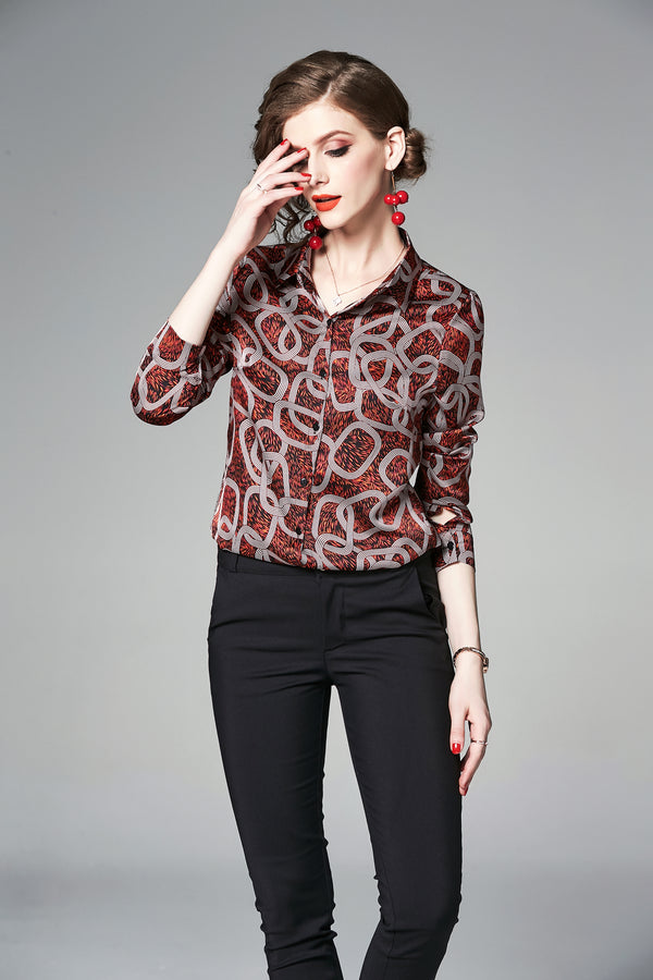 Red Patterns Design Shirt