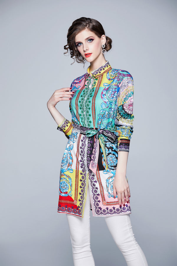 Multicolor & Patterns Print Shirt