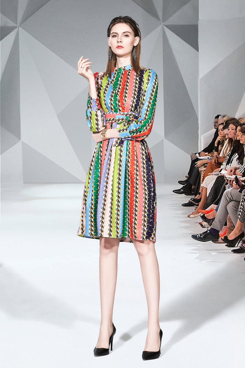 Multicolor side wrap Dress
