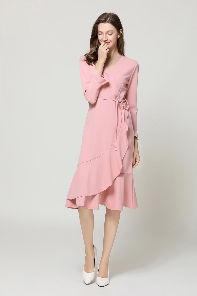 Go Pink side wrap Dress