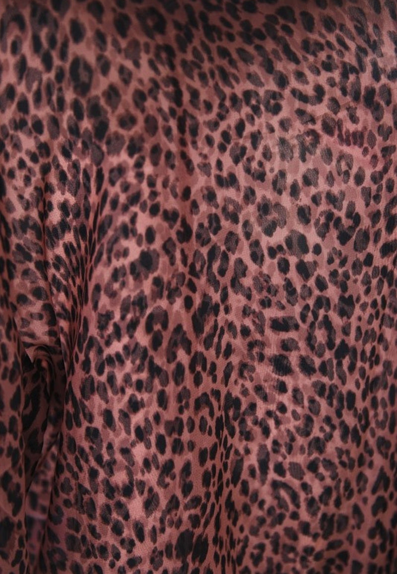 Play Red Animal Print Blouse