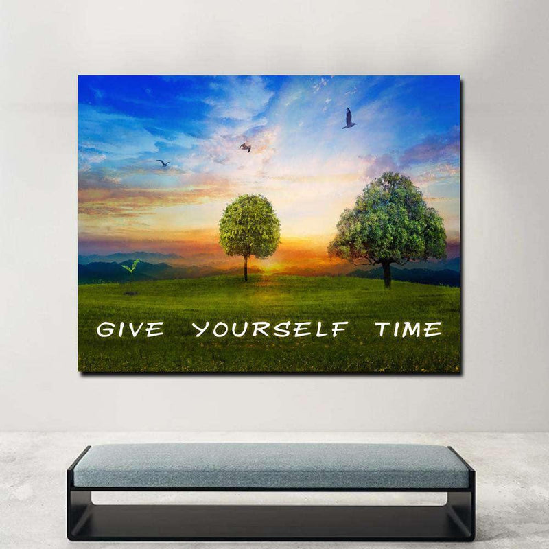 GIVE YOURSELF TIME! - Mockup mit Hintergrund 1 -  Hustling Sharks
